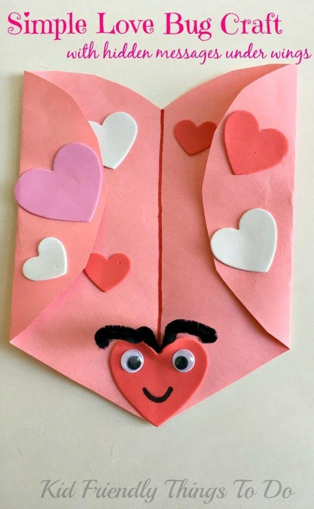 """<p>There are hidden messages under each wing of this colorful paper love bug, where your kids can write heartfelt notes to friends and family.</p><p><strong>Get the tutorial at <a href=""""https://kidfriendlythingstodo.com/simple-love-bug-valentine-craft/"""" rel=""""nofollow noopener"""" target=""""_blank"""" data-ylk=""""slk:Kid Friendly Things to Do"""" class=""""link rapid-noclick-resp"""">Kid Friendly Things to Do</a>.</strong></p><p><strong><a class=""""link rapid-noclick-resp"""" href=""""https://www.amazon.com/Colorations-BRITESTK-Bright-Construction-Paper/dp/B00826ENU2/?tag=syn-yahoo-20&ascsubtag=%5Bartid%7C10050.g.1584%5Bsrc%7Cyahoo-us"""" rel=""""nofollow noopener"""" target=""""_blank"""" data-ylk=""""slk:SHOP CONSTRUCTION PAPER"""">SHOP CONSTRUCTION PAPER</a><br></strong></p>"""