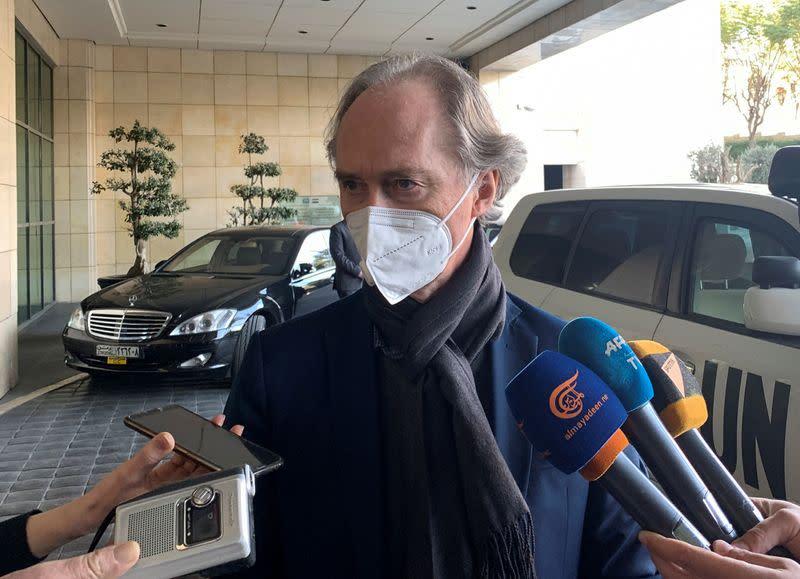 FILE PHOTO: UN Special Envoy for Syria Pedersen arrives in Damascus