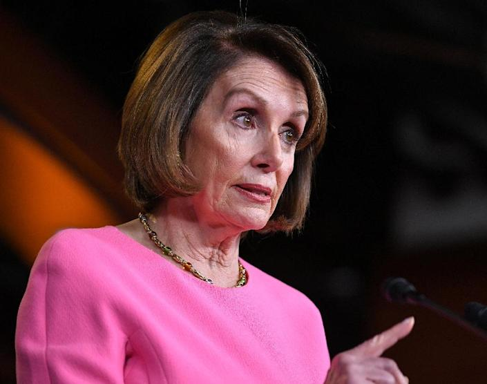 House speaker Nancy Pelosi, seen here in a May 23, 2019 file photo, has accused Donald Trump of using 'threats and temper tantrums' as negotiating tools (AFP Photo/MANDEL NGAN)