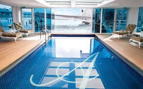 Swimming pool on SS Antoinette - Credit: Uniworld Boutique River Cruise Collection