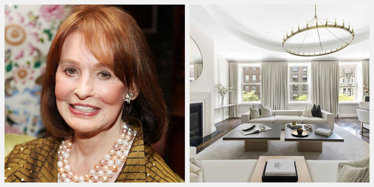 "<p>The New York City home where <a href=""https://www.townandcountrymag.com/society/tradition/a9868295/gloria-vanderbilt-interview-instagram/"" target=""_blank"">Gloria Vanderbilt</a> spent her childhood has been listed for $50 million, per <em><a href=""https://www.housebeautiful.com/design-inspiration/real-estate/a28554869/gloria-vanderbilt-childhood-home-upper-east-side-for-sale/"" target=""_blank"">House Beautiful</a></em>. Scroll down to see inside 39 East 72nd Street.</p>"