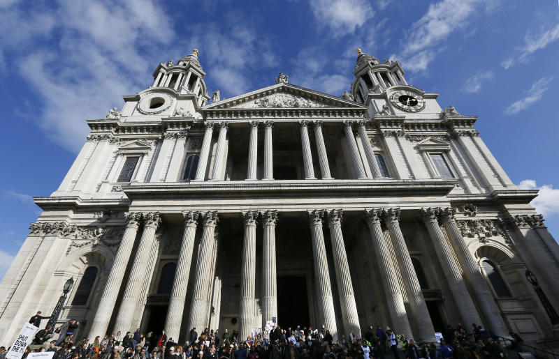 Occupy London activists stage St Paul's protest