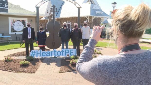 New public art was unveiled in Kensington, P.E.I., in May. Now the Heart of P.E.I. initiative is seeking up to 10 more pieces of art to be made for the region. (Danny Arsenault/CBC - image credit)