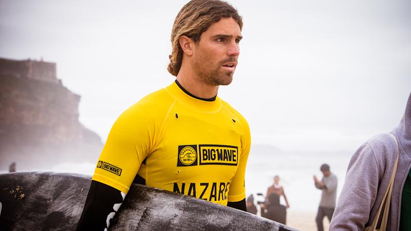 Alex Botelho, pictured here competing at Nazare in 2018.