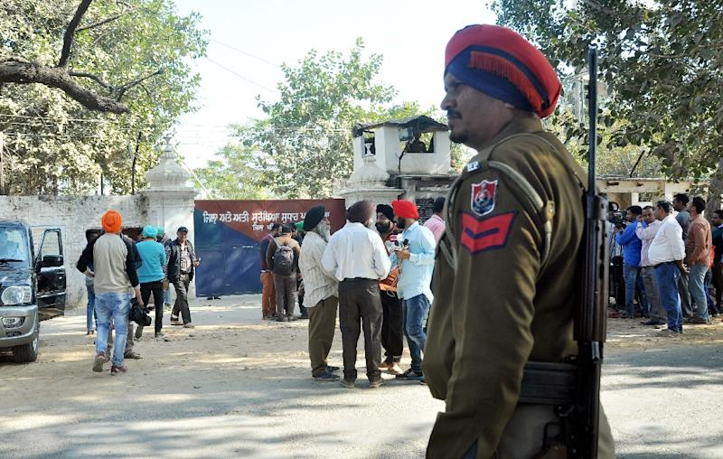 Top Sikh militant Harminder Singh Mintoo escaped from Nabha maximum-security prison during a jailbreak by a gang wearing police uniforms on November 27, 2016 (AFP Photo/STR)