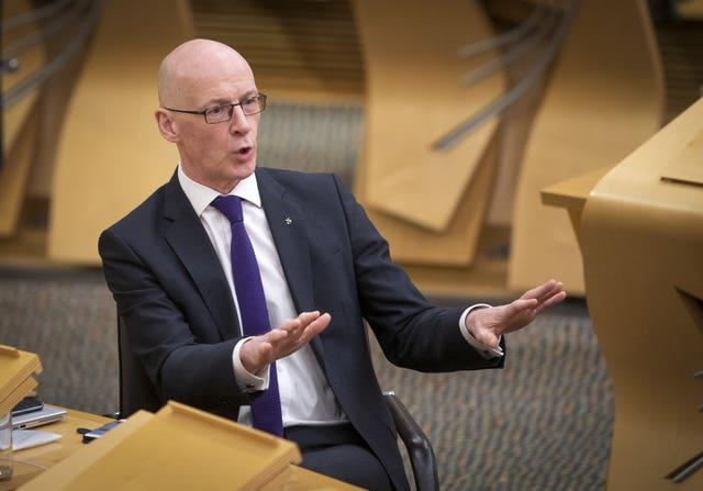 John Swinney vote of no confidence