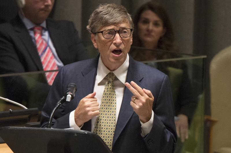Microsoft founder Bill Gates speaks during the Millennium Development Goals event on the sidelines of the United Nations General Assembly, at the U.N. Headquarters in New York September 25, 2013. REUTERS/Brendan McDermid