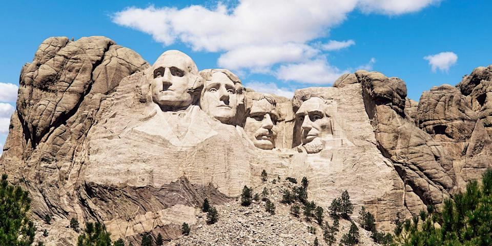 """<p><strong>Best for Visiting an Iconic Attraction</strong></p><p>If you've never seen <a href=""""https://go.redirectingat.com?id=74968X1596630&url=https%3A%2F%2Fwww.tripadvisor.com%2FAttraction_Review-g60908-d143767-Reviews-Mount_Rushmore_National_Memorial-Keystone_South_Dakota.html&sref=https%3A%2F%2Fwww.countryliving.com%2Flife%2Fg37186621%2Fbest-places-to-experience-and-visit-in-the-usa%2F"""" rel=""""nofollow noopener"""" target=""""_blank"""" data-ylk=""""slk:Mount Rushmore"""" class=""""link rapid-noclick-resp"""">Mount Rushmore</a>, the massive sculpture of four presidents carved into the rock face at Mount Rushmore in South Dakota's Black Hills, make this the year. Base yourself in Rapid City and take day trips to the Crazy Horse Memorial and the Wild West town of Deadwood, where Wild Bill Hickok was killed.</p><p><strong><em>Where to Stay:</em></strong> <a href=""""https://go.redirectingat.com?id=74968X1596630&url=https%3A%2F%2Fwww.tripadvisor.com%2FHotel_Review-g54774-d114744-Reviews-Hotel_Alex_Johnson_Rapid_City_Curio_Collection_by_Hilton-Rapid_City_South_Dakota.html&sref=https%3A%2F%2Fwww.countryliving.com%2Flife%2Fg37186621%2Fbest-places-to-experience-and-visit-in-the-usa%2F"""" rel=""""nofollow noopener"""" target=""""_blank"""" data-ylk=""""slk:Hotel Alex Johnson"""" class=""""link rapid-noclick-resp"""">Hotel Alex Johnson</a>, <a href=""""https://go.redirectingat.com?id=74968X1596630&url=https%3A%2F%2Fwww.tripadvisor.com%2FHotel_Review-g60908-d223604-Reviews-Holiday_Inn_Express_Suites_Mt_Rushmore_Keystone-Keystone_South_Dakota.html&sref=https%3A%2F%2Fwww.countryliving.com%2Flife%2Fg37186621%2Fbest-places-to-experience-and-visit-in-the-usa%2F"""" rel=""""nofollow noopener"""" target=""""_blank"""" data-ylk=""""slk:Holiday Inn Express & Suite Mt. Rushmore"""" class=""""link rapid-noclick-resp"""">Holiday Inn Express & Suite Mt. Rushmore</a></p>"""