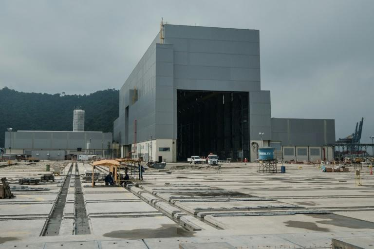 The new Brazilian naval submarine base under construction in Itaguai, some 70km south of Rio de Janeiro, Brazil, on April 7, 2017
