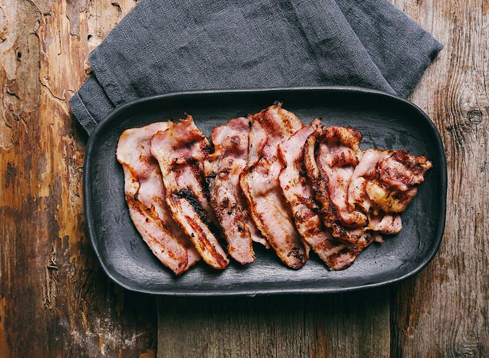 Bacon in a pan