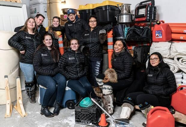 A photo of the Ilitaqsiniq team, including Adriana Kusugak, the executive director, seated on left. (Submitted by Adriana Kusugak - image credit)