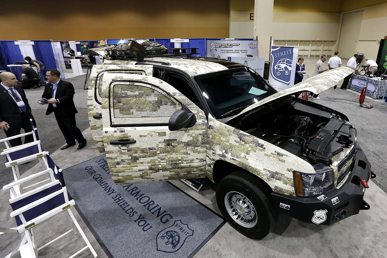 Streit USA Armoring showcases their work at the Border Security Expo in Phoenix.