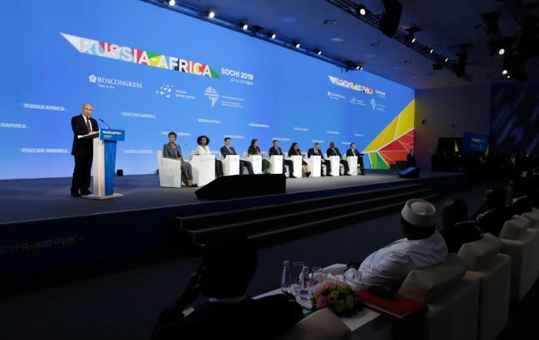 The Russia-Africa event at the Black Sea resort has brought together delegates to discuss everything from nuclear technology to mineral extraction (AFP Photo/Mikhail METZEL)