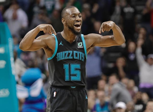 Kemba Walker continues to put pressure on the Hornets in a contract year with a career season full of big scoring nights. (AP)