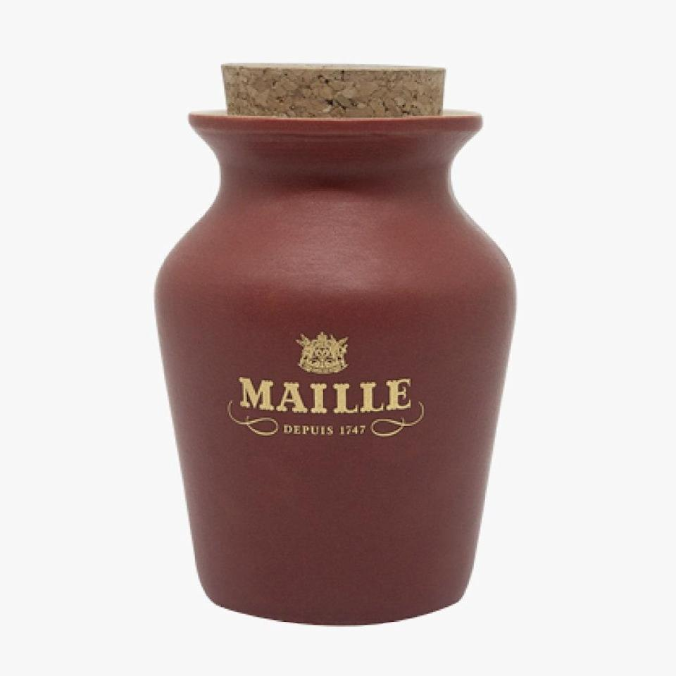 """Maille mustard's rosy-colored jar contains mustard made with rosé and grapefruit. Pretty and perfect for a cheeseboard. $27, Maille. <a href=""""https://us.maille.com/collections/gifts/products/mustard-with-rose-wine-and-grapefruit-freshly-pumped"""" rel=""""nofollow noopener"""" target=""""_blank"""" data-ylk=""""slk:Get it now!"""" class=""""link rapid-noclick-resp"""">Get it now!</a>"""