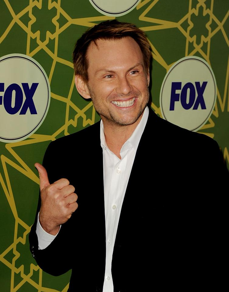 "<a href=""/christian-slater/contributor/28589"">Christian Slater</a> (""<a href=""/breaking-in/show/46518"">Breaking In</a>"") attends the 2012 Fox Winter TCA All-Star Party at Castle Green on January 8, 2012 in Pasadena, California."