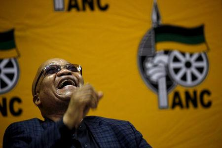 FILE PHOTO: South Africa's President and ANC party president Jacob Zuma reacts as he attends the party's National Executive Committee (NEC) three-day meeting in Pretoria, South Africa, March 18, 2016. REUTERS/Siphiwe Sibeko/File Photo