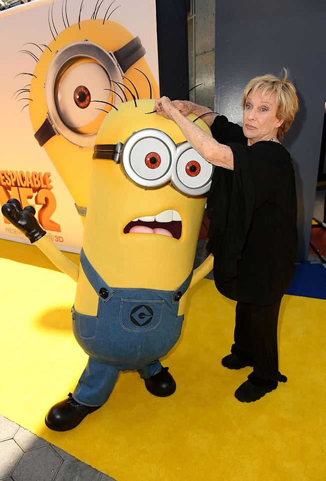 "UNIVERSAL CITY, CA - JUNE 22:  Actress Cloris Leachman arrives at the premiere of Universal Pictures' ""Despicable Me 2"" at Gibson Amphitheatre on June 22, 2013 in Universal City, California.  (Photo by Mark Davis/Getty Images)"