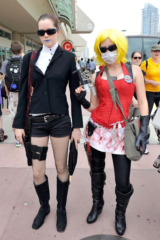 SAN DIEGO, CA - JULY 11:  Aley Mclelan Emily Sperling dress up for 2012 Comic-Con at the San Diego Convention Center on July 11, 2012 in San Diego, California.  (Photo by Jerod Harris/Getty Images)
