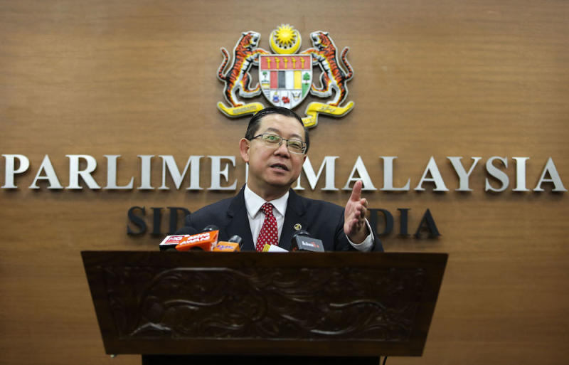 Finance Minister Lim Guan Eng proposed for RM1.2 billion to be channelled to the Ministry of Economic Affairs to bear the costs of programmes for the Bumiputera community, such as Teraju and Mara. — Picture by Yusof Mat Isa