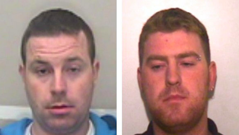 Police want to speak to brothers Christopher, left, and Ronan Hughes in connection with the deaths of 39 people found dead in a lorry in Essex (Pictures: PA)