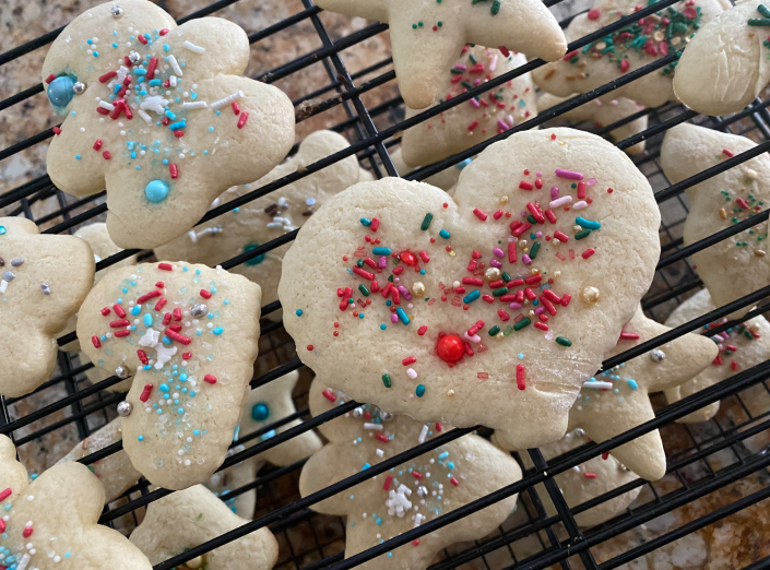 Lewellyn Kerstetter's sugar cookie recipe has been handed down through her family for a century. (Terri Peters/TODAY)