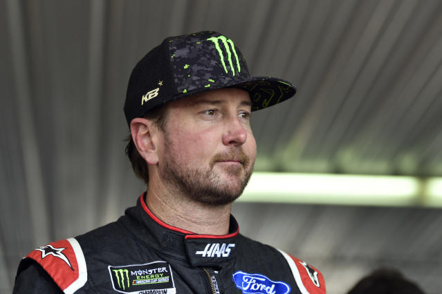 "<a class=""link rapid-noclick-resp"" href=""/nascar/sprint/drivers/156/"" data-ylk=""slk:Kurt Busch"">Kurt Busch</a> has his first win of 2018. (AP Photo/Derik Hamilton)"