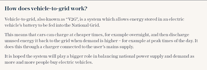How does vehicle-to-grid work?