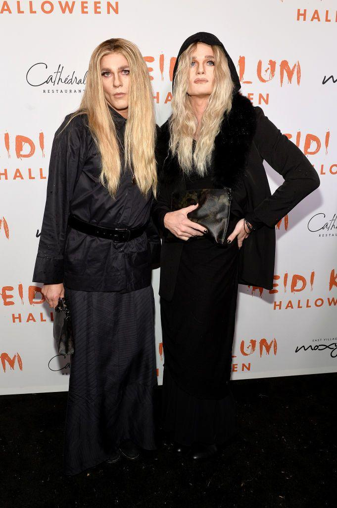 <p>Harris (on the right) and his husband Burkta wowed at Heidi Klum's Halloween party when they arrived as the Olsen twins, Mary-Kate and Ashley.</p>