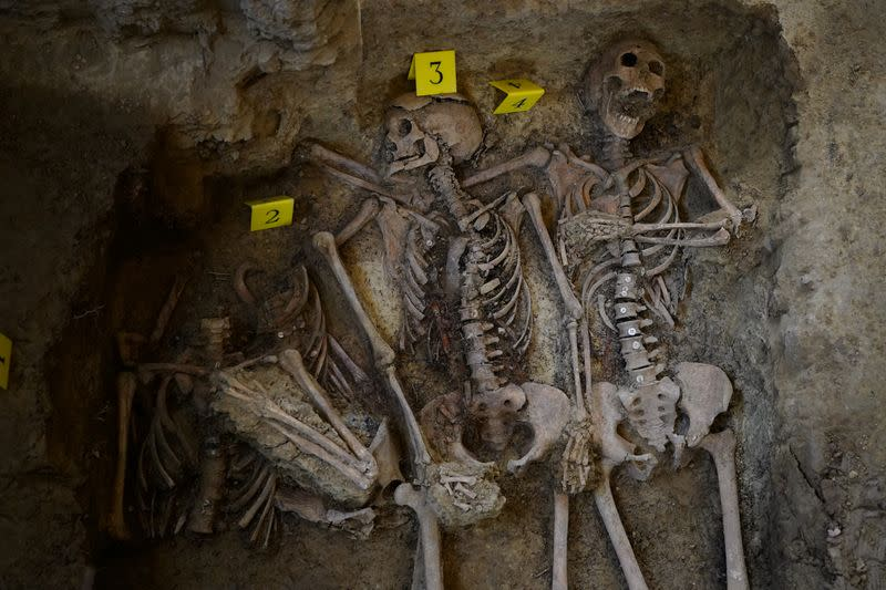 Archaeologists in the Spanish region of Aragon have uncovered the mass grave of 10 women murdered by a fascist firing squad in the early days of Spain's civil war