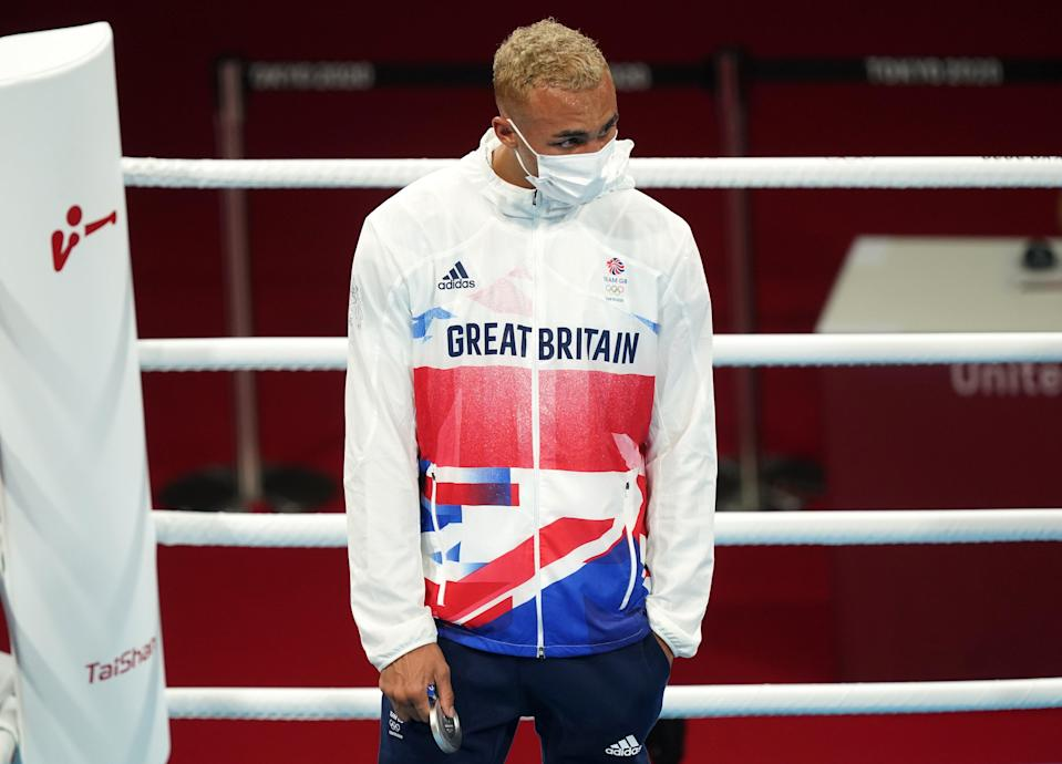 Ben Whittaker apologised after refusing to wear his silver medal on the podium (Mike Egerton/PA) (PA Wire)