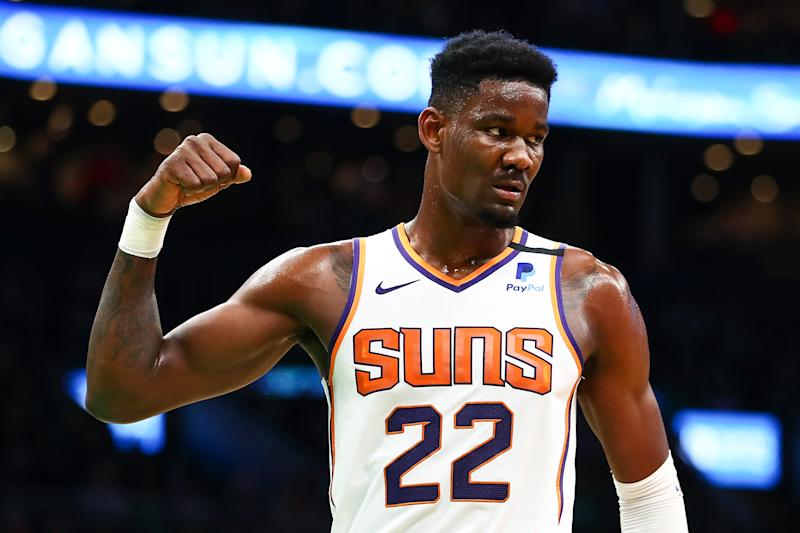 Deandre Ayton #22 of the Phoenix Suns