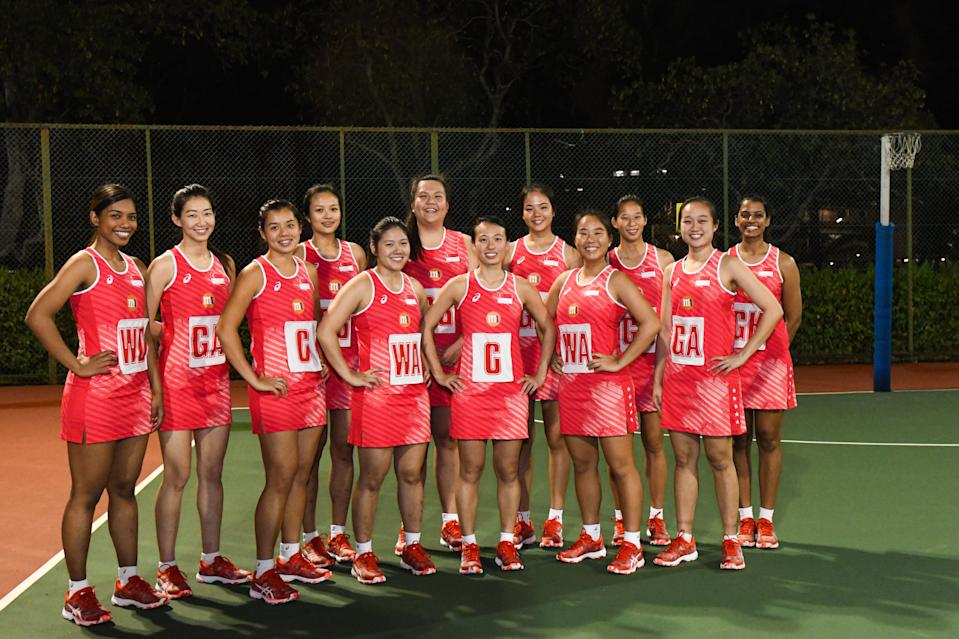 The 12-strong Singapore netball national team for the 2019 M1 Nations Cup. (PHOTO: Stefanus Ian/Yahoo News Singapore)