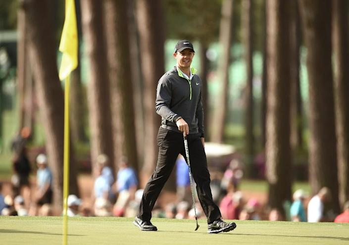 A Masters win for Rory McIlroy would give him a career Grand Slam, joining Jack Nicklaus, Tiger Woods, Ben Hogan, Gene Sarazen and Gary Player, and make him the first European to achieve the feat (AFP Photo/Timothy A. Clary)