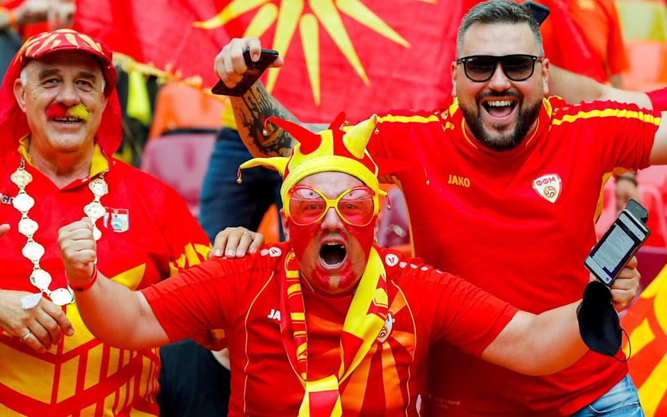 North Macedonia fans show their support prior to the UEFA Euro 2020 - Getty Images