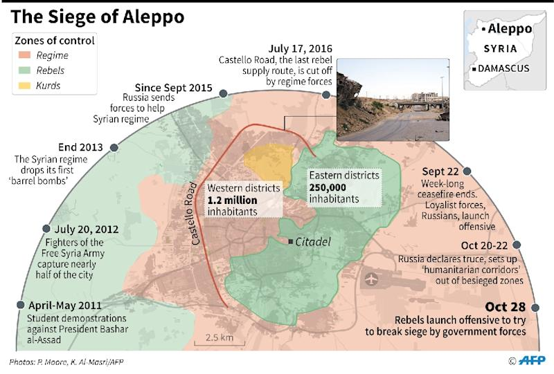 The battle for Aleppo (AFP Photo/)