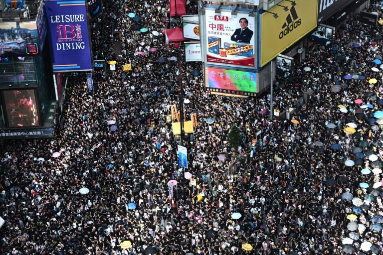 Millions of pro-democracy protesters have taken to the streets of Hong Kong over the past 10 weeks (AFP Photo/Anthony WALLACE)