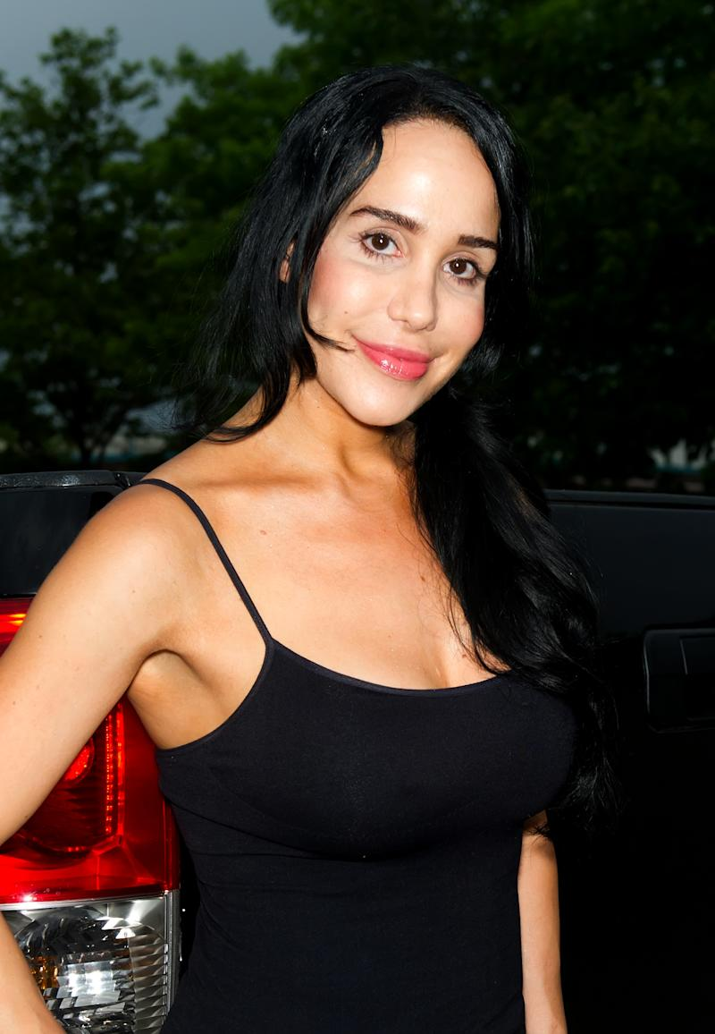 KING OF PRUSSIA, PA - JUNE 22: Nadya 'Octomom' Suleman attends the Celebrity Pillow Fight press conference and weigh in at Fox And Hound on June 22, 2012 in King of Prussia, Pennsylvania. (Photo by Gilbert Carrasquillo/WireImage)