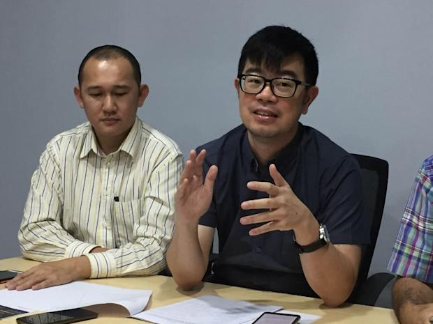 Warisan vice president Junz Wong (left) highlighted the alleged excessive wealth of Sabah assistant finance minister. — File picture by Julia Chan