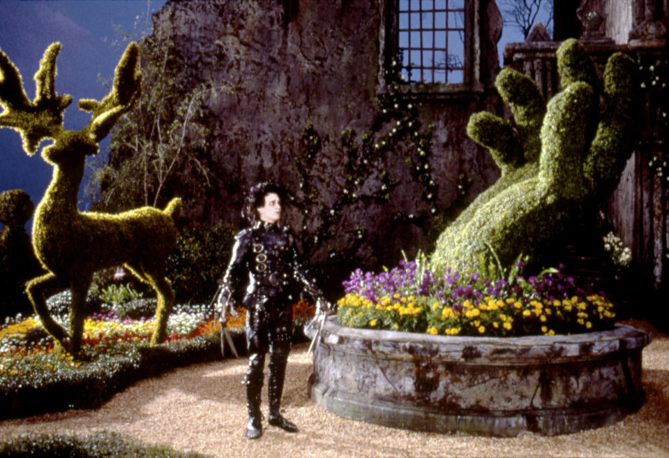 American actor Johnny Depp on the set of Edward Scissorhands, written and directed by Tim Burton. (Photo by Twentieth Century Fox Film Corpo/Sunset Boulevard/Corbis via Getty Images)