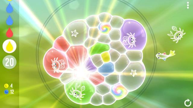 'Tiny Bubbles' is a relaxing physics-based puzzle game.