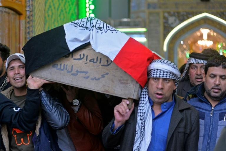 32 people were killed in a January suicide bombing in Baghdad claimed by IS