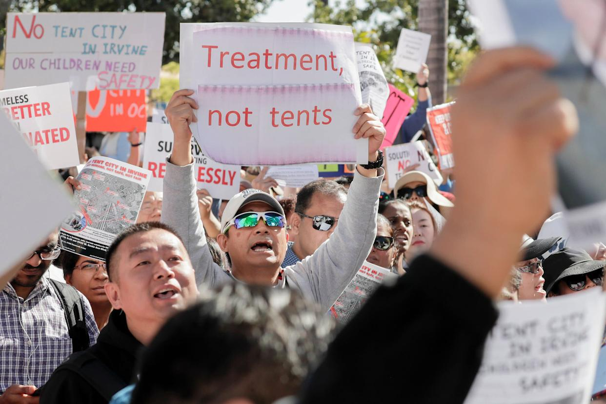 In Los Angeles, debates over housing, public transportation and homelessness have become more strident in recent years. (Photo: Irfan Khan/Los Angeles Times/Getty Images)