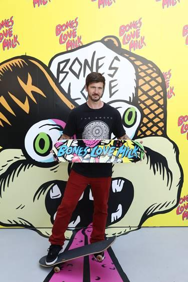 Pro skater, Chris Cole, at the @BonesLoveMilk Shredquarters in Huntington Beach, Calif., Wednesday, July 24, 2019. The immersive, indoor skatepark pop-up is a week-long program hosted by the California Milk Processor Board dedicated to celebrating skate and California street culture while showcasing the real benefits of milk as nature's energy drink. (Photo by Matt Sayles/Invision for CMPB/AP Images)