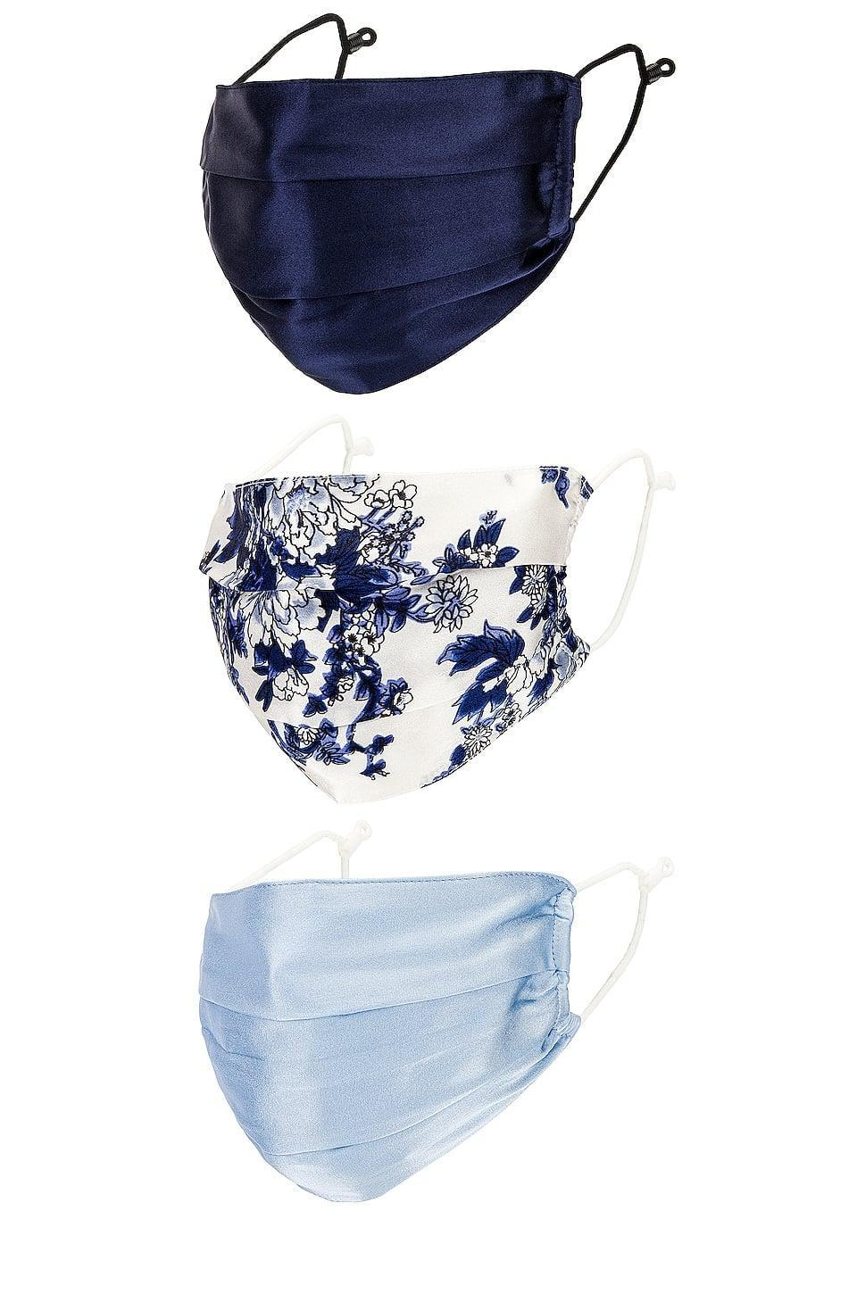 <p><span>8 Other Reasons Silky Mask Set in Blue Multi</span> ($62)</p>