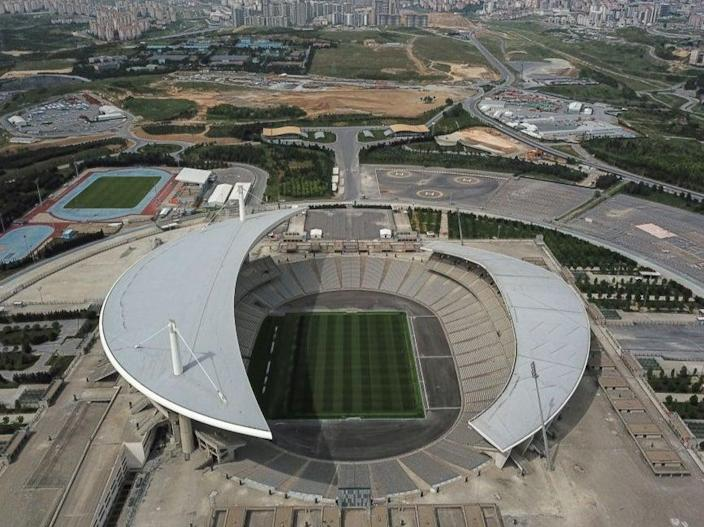 An aerial view shows the Ataturk Olympic stadium (AFP via Getty Images)