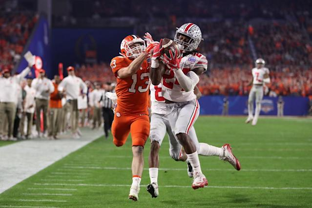 Malik Hooker had seven interceptions and returned three for TDs in 2016. (Getty)