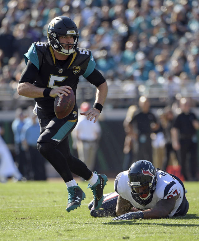 Bortles' 6.3 average per carry is the best among active players with at least 200 carries, and the fourth-best clip in NFL history. (AP)