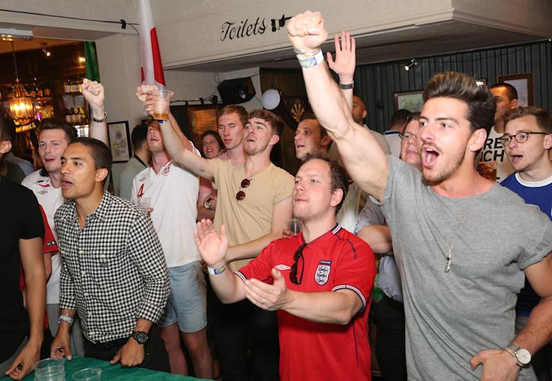 Football fans could be prevented from watching matches in pubs. (PA)