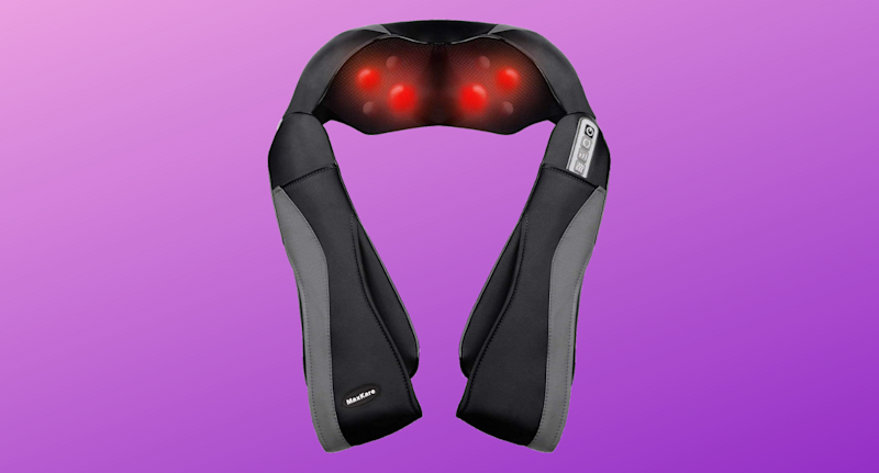 MawKare Shiatsu Back Massager Neck and Shoulder Massagers with Deep Kneading and Heat Massage Therapy